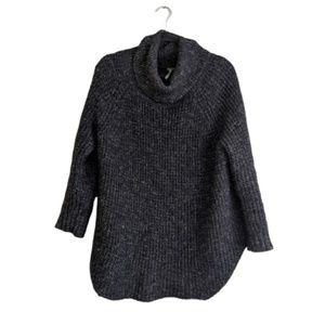 Free People Gray Turtleneck Sweater Tunic